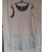 George Girl's Khaki School Uniform Sleeveless Pleated Jumper Size 6X - $6.00
