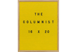 "16X20 Yellow Felt Letter Board With 350-Piece Set of 1"" Letters and Symbols. Inc - $75.99"