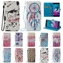 3D Leather Wallet Magnetic Smart Stand Case Cover for Samsung A3 A5 A320 A520 - $6.44