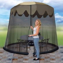9-Foot Umbrella Screen Mosquito Netting Canopy Tent for Patio Yard Garde... - $36.15