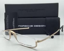 PORSCHE DESIGN Titanium Eyeglasses Half Eyes P'8002 A Semi-Rimless Gold Frame