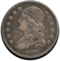 1834 Capped Bust Silver 25¢ Quarter Coin Lot# A 512 image 1