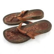 TEVA Ventura Brown Nubuck Leather Thong Flip Flop Sandals Womens 8.5 Sty... - $34.49