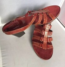 Aerosoles Latice Work Red Sandals Size 10 - $19.95
