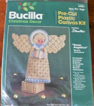 Bucilla Plastic Canvas Kit Straw Angelica Angel Musical Centerpiece - $31.97