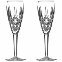 WATERFORD Araglin Champagne Flute Two 2 Flutes New In Box # 1058127 - $197.75