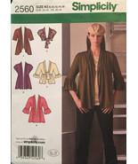 Simplicity 2560 Misses Knit Cardigans 5 Options, Pleats,Tie Front & Shrug - $6.00
