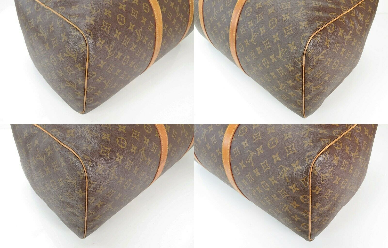 Authentic LOUIS VUITTON Sac Souple 55 Monogram Tote Duffle Bag #34978 image 6