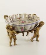 Porcelain Bowl Vintage Porcelain with 100% Bronze Wedding * Free Air Pri... - $399.00