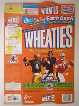 Empty WHEATIES Box 1998 18oz CHAMPIONSHIP QUATERBACKS Favre Elway Young ... - $5.58