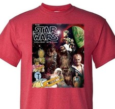 Star Wars Holiday Special T shirt retro 70s 80s Christmas graphic red tee image 1