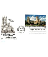 FDC POSTCARD- WASHINGTON NATIONAL CATHEDRAL -  ARTCRAFT CACHET BK15 - $2.94