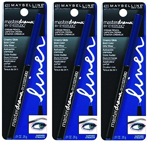 "Primary image for 3 Pack Maybelline New York Eye Studio Master Drama Cream Pencil Liner #420 ""Sapp"