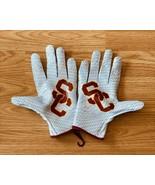 NEW NIke Vapor Knit 2 NCAA USC TROJANS Football Gloves PGF495-148 Size L... - $89.09