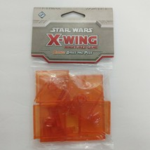 Star Wings X-wing Miniatures Game Orange Bases And Pegs - $7.92