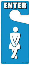 Womens Bathroom Enter Novelty Metal Door Hanger - $12.95
