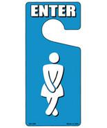 Womens Bathroom Enter Novelty Metal Door Hanger - $12.95