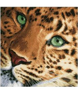 Vervaco LanArte Leopard Counted Cross Stitch kit,13.75x13.5, 14ct aida, ... - $59.99