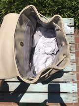 Deux Lux Luxury Bowery Backpack Camel/Off-White/Cream $130 NEW with tags NWT image 6