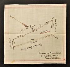 1907 antique ORIG LAND PLATT MAP hand drawn ERB KULP GEPFER hummelstown pa - $68.95