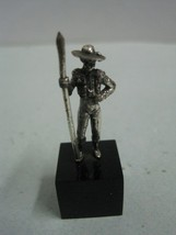 A Small Drover cowboy in silver figurine figure animal collection - $24.34