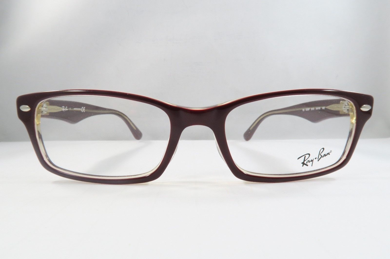 3e38091cbe5 Ray Ban RB 5206 5372 Eyeglasses Red on Beige and 50 similar items. 57