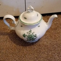 ROSENTHAL GERMANY  CHINA white TEA POT AND LID green WHITE - $41.06