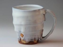 Mug cup Japanese cofee tea soup cup Hagi yaki ware Gin Artist Keiichiro ... - $54.14
