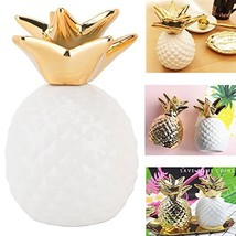 iefoah Pineapple Coin Piggy Bank Decorative Ceramic Pineapples Shaped Ca... - $16.19