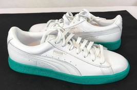 NEW! PUMA Basket Classic Lifestyle Sneakers white leather women's Size: 5C - $43.56