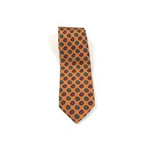 Robert Talbott Best of Class Tie Orange With Multicolored Geo Patterns S... - $21.11