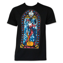 Harley Quinn Stained Glass Tee Shirt Black - $24.98