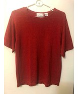 CB COLLECTIONS sweater red metallic threads size M - $11.87