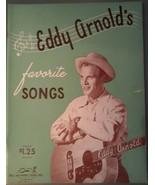Eddy Arnold's favorite Songs ~ 1948 Songbook - $5.93