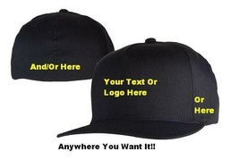 Custom Embroidered Flexfit Hat - Multiple Colors & Styles!!! (Fast Shipp... - $18.95