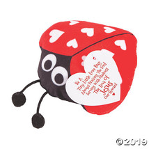 Religious Valentine Stuffed Ladybugs with Card - $27.75
