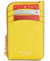 Kate Spade Margaux Zip Card Holder Key Fob Case Leather Wallet ~NWT~ Yellow - $71.28