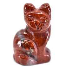 Rainbow Jasper Gemstone Tiny Miniature Kitty Cat Figurine Hand Carved in China image 2