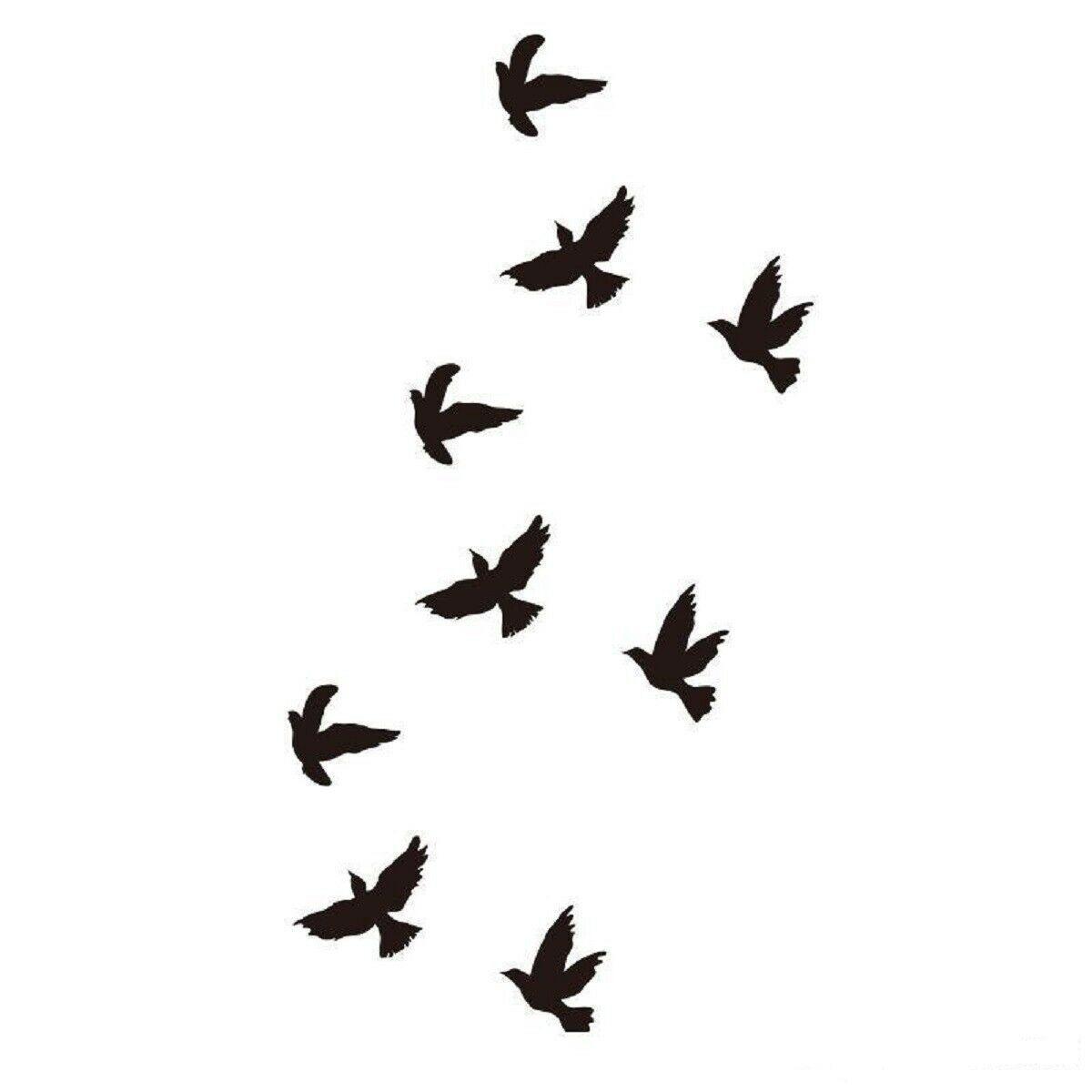 Arm Temporary Tattoos Art Sticker Waterproof Women Small Birds Fly