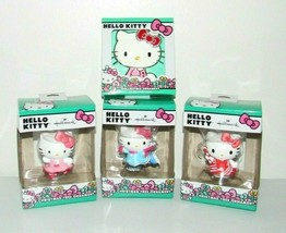 Hallmark Hello Kitty Ornament Lot Peppermint Ballerina Ice Skating Crystals - $28.94