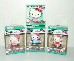Hallmark Hello Kitty Ornament Lot Peppermint Ballerina Ice Skating Crystals - $28.94