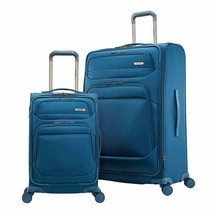 Samsonite Epsilon NXT Luggage Blue 2-Piece Softside Expandable Wheels Zipper - $204.99
