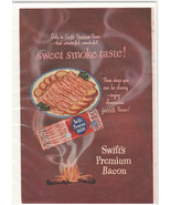 1950 Swift's Bacon Vintage print advertisement Sweet Smoke Taste - $14.00