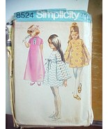 Vintage Sewing Pattern Simplicity 8524 Girls Long Short Empire Waist Dre... - $7.98