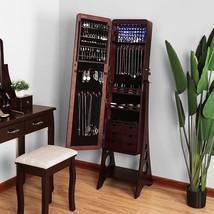 Standing Jewelry Armoire Jewelry Storage Cabinet Bevel Edge Mirror Songmics - €175,90 EUR