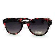 Womens Round Horn Rim Sunglasses 4 Different Prints - $7.95
