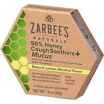 Lot of 2 Zarbee's Naturals 96% Honey Cough Soothers + Mucus 1.2oz Exp 5/20 - $13.71