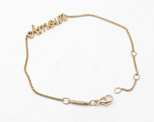 ALEX & ANI  925 Sterling Silver - Rose Gold Plated Amour Chain Bracelet - B4203 image 2