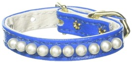 Mirage Pet Products 3/8-Inch Pearl Pet Collar, Size 8, Blue - $24.32