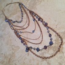 dramatic multistrand beaded necklace - $24.99